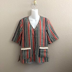 Anthropologie Moon River Multicolor Stripe Blouse